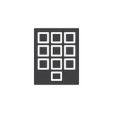 Numeric keypad icon vector, filled flat sign, solid pictogram isolated on white. Stock Photography