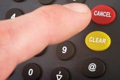 Numeric keypad input Stock Image