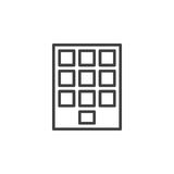 Numeric keypad line icon, outline vector sign, linear style pictogram isolated on white. Royalty Free Stock Images