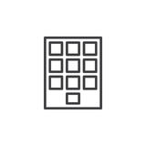 Numeric keypad line icon, outline vector sign, linear style pictogram isolated on white. Stock Photography