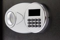 Numeric keypad of safe deposit box, close-up Stock Photo