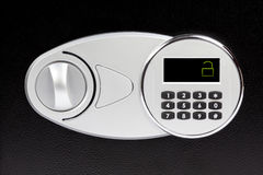 Numeric keypad of safe deposit box, close-up. Protection, lock, security Royalty Free Stock Images
