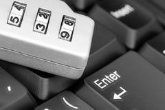 Numeric lock code on a keyboard. Stock Photos