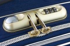 Numeric lock on travel bag Royalty Free Stock Photo
