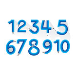 Numeric number. Created with pencil Royalty Free Illustration