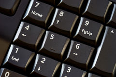 Numeric pad with black keys Royalty Free Stock Images