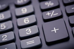 Numeric pad of a calculator, closeup Stock Photo