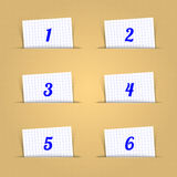 Numeric Shaped Paper Clip Royalty Free Stock Photos