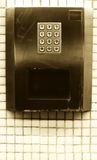Numeric steel keypad, concept of numbers Stock Image