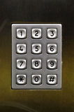 Numeric steel keypad, concept of numbers Royalty Free Stock Image
