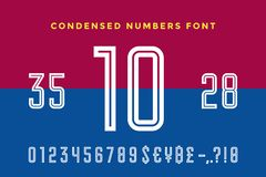 Numeric and symbol font. Sport font with Numeric, Numbers Royalty Free Illustration