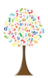 Numeric tree Royalty Free Stock Photo