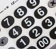 Numeric white keypad Royalty Free Stock Photography