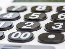 Numeric white keypad Stock Photography
