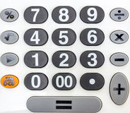 Numeric white keypad Stock Photos