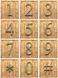 Numeric wooden characters Royalty Free Stock Images