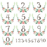 Numeric Wreath Table Card Stock Photo