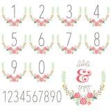 Numeric Wreath Table Card Royalty Free Stock Photos