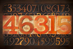 Numerical abstract background Stock Images