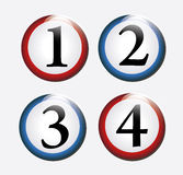 Numerical chips Stock Image