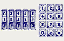 Numerical code lock Royalty Free Stock Image