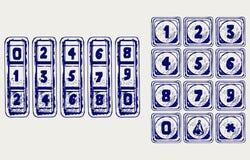 Numerical code lock. Doodle style Royalty Free Stock Image