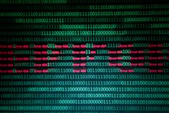 Numerical continuous, abctract data in binary code, give technology felling. Numerical continuous in double tones, abctract data in binary code, shoot with zoom royalty free stock image