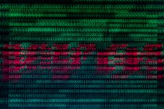 Numerical continuous, abctract data in binary code, give technology felling. stock photo