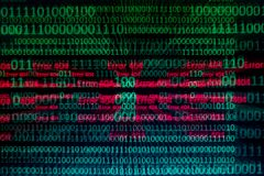 Numerical continuous, abctract data in binary code, give technology felling. Numerical continuous in double tones, abctract data in binary code, shoot with zoom stock photo