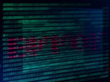 Numerical continuous, abctract data in binary code, give technology felling. royalty free stock photography