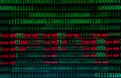 Numerical continuous, abctract data in binary code, give technology felling. Numerical continuous in double tones, abctract data in binary code, shoot with zoom royalty free stock photo