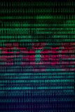 Numerical continuous, abctract data in binary code, give technology felling. stock images