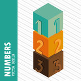 Numerical cubes Stock Photos