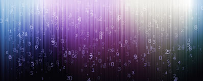 Numerical designed background Royalty Free Stock Image