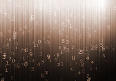 Numerical designed background Stock Images