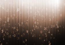 Numerical designed background Stock Images