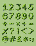 Numerical figures with green artwork Stock Images