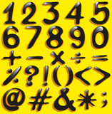 Numerical figures and mathematical operations Stock Photography