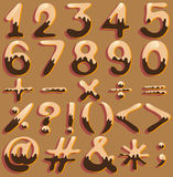 Numerical figures and signs Royalty Free Stock Images