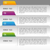 Numerical filing. Over gray background vector illustration Stock Photography