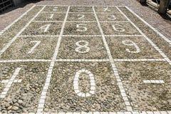 Numerical keyboard on a sidewalk Royalty Free Stock Image
