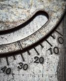 Numerical scale on metal Royalty Free Stock Photo