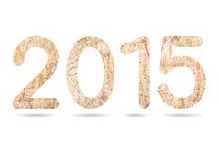 2015 numerici da vecchia e struttura concreta sporca Immagine Stock Libera da Diritti