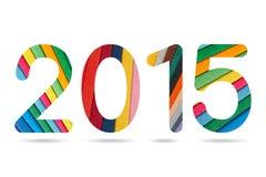 2015 numerici dalla disposizione di carta variopinta Fotografia Stock