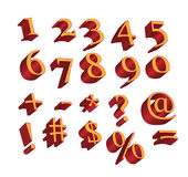 Numerics and symbols Royalty Free Stock Photo