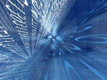 Numerieke cyberspace stock illustratie