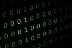 Numerieke ononderbroken, abctract gegevens in binaire code, geeft technologie het felling stock fotografie