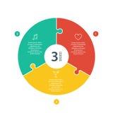 Numeriertes flaches Regenbogenspektrum färbte Puzzlespieldarstellung infographic Diagramm mit dem erläuternden Textfeld, das auf  Stockfoto