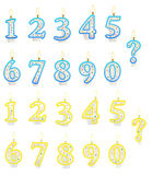 Numeriertes Kerze-Set vektor abbildung