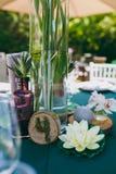 Numerierungstabellen an der Hochzeit Lizenzfreies Stockfoto